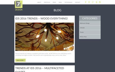 Screenshot of Blog 7jdesign.com - Blog - 7j Designs : 7j Designs - captured Feb. 27, 2016
