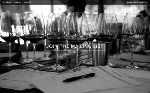 Screenshot of Signup Page realmcellars.com - Realm Cellars - Join the Mailing List - captured Feb. 2, 2016