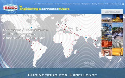 Screenshot of Home Page isgec.com - ISGEC | Heavy Engineering | Heavy Engineering Equipment Manufacturers - captured Nov. 16, 2019