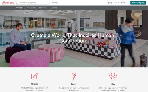 Screenshot of Jobs Page airbnb.co.uk - Life | Jobs at Airbnb - captured Oct. 29, 2014