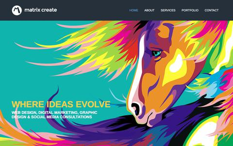 Screenshot of Home Page matrixcreate.com - Isle of Wight Web Design, Graphic Design and Branding | Matrix Create - captured July 26, 2018