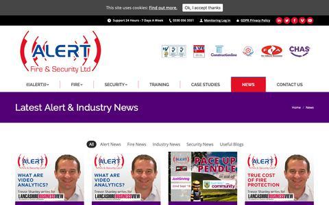 Screenshot of Press Page alertfireandsecurity.co.uk - News - Alert Fire & Security Ltd - captured Oct. 3, 2018