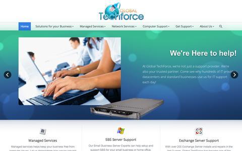Screenshot of Home Page global-techforce.com - Global TechForce | - captured Sept. 30, 2014