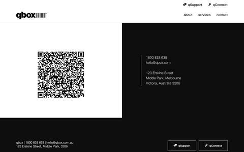 Screenshot of Contact Page qbox.com.au - qbox - captured Nov. 17, 2016