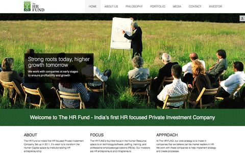 Screenshot of Home Page thehrfund.com - The HRFund -  Home - captured Sept. 30, 2014