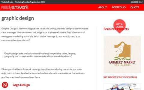 Screenshot of readyartwork.com - graphic design - Ready Artwork - captured June 10, 2017