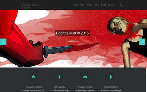 Screenshot of Home Page intuitivegamestudios.com - Intuitive Game Studios - captured Sept. 30, 2014