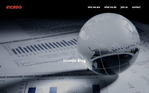 Screenshot of Blog incedoinc.com - Incedo Blog - incedoinc.com - captured March 9, 2016