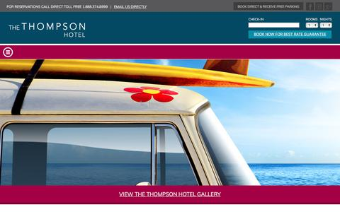 Screenshot of Contact Page thompsonhotel.ca - Contact Us | The Thompson Hotel & Conference Centre - captured June 23, 2017