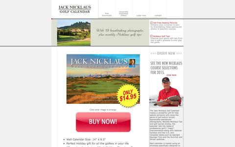 Screenshot of Home Page jacknicklauscalendar.com - 2015 Golf Calendar, Jack Nicklaus Golf Calendar - Corporate Gifts, Golf Course Photos, Golf Tips - captured Oct. 1, 2014