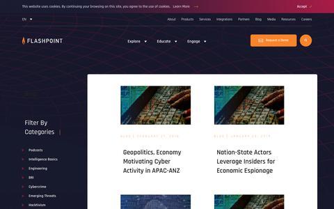 Screenshot of Blog flashpoint-intel.com - Flashpoint - Cybercrime - captured Nov. 12, 2019