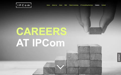 Screenshot of Jobs Page ipcom-munich.com - IPCom | IP Consulting Company | Careers - captured Nov. 28, 2018