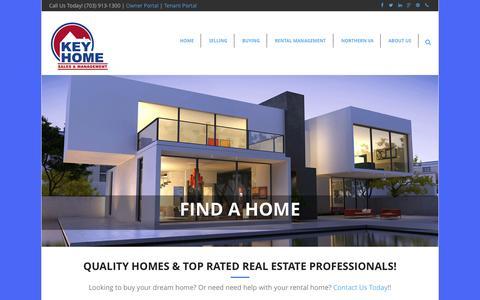 Screenshot of Home Page keyhm.com - Key Home Sales & Management - captured Sept. 6, 2015