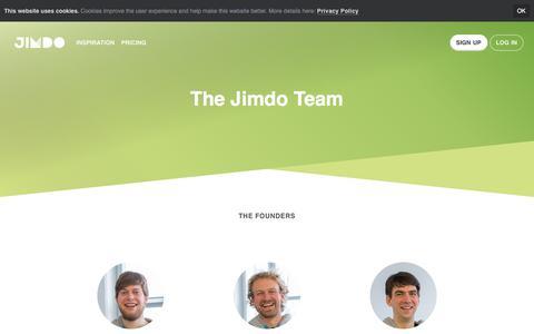 Screenshot of Team Page jimdo.com - Our Team - Jimdo - captured April 10, 2018