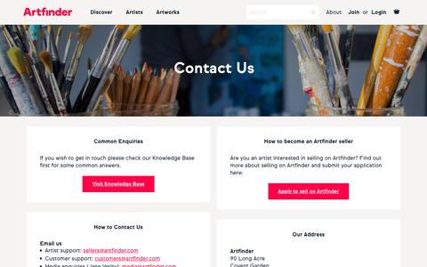 Contact Artfinder | Artfinder