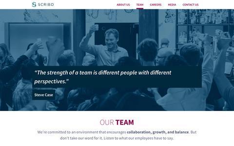 Screenshot of Team Page scribd.com - Our Team | Scribd - captured March 1, 2018