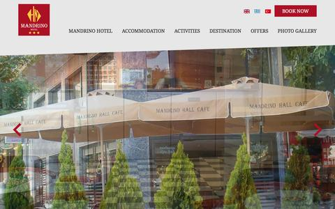 Screenshot of Contact Page mandrino.gr - Mandrino City Hotel at Thessaloniki Greece - captured March 11, 2016