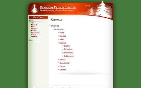 Screenshot of Site Map Page damasoft.in - Sitemap » Damasoft Private Limited - High quality, Low cost IT experts - captured Nov. 23, 2016