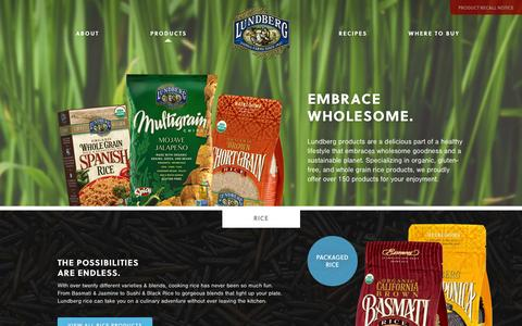Screenshot of Products Page lundberg.com - Products | Lundberg Family Farms - captured Oct. 31, 2014