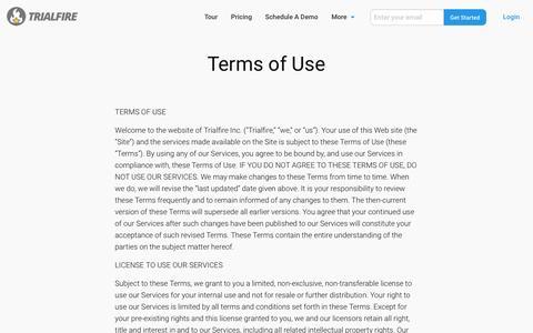 Terms of Use   Trialfire