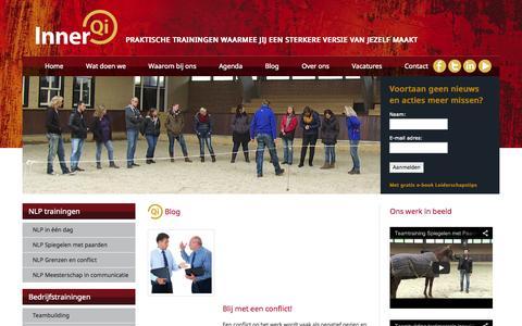 Screenshot of Blog innerqi.nl - Blog   InnerQi - Trainingen, Coaching & Opleidingen - captured Oct. 6, 2014