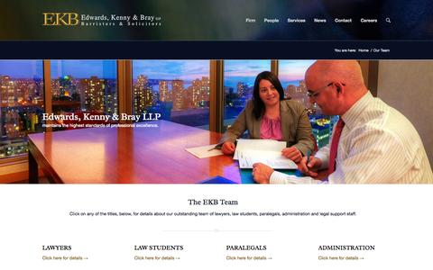 Screenshot of Team Page ekb.com - Our Team | Edwards, Kenny & Bray LLP - captured Oct. 2, 2014