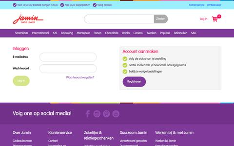 Screenshot of Login Page jamin.nl - Inloggen - captured Sept. 30, 2017