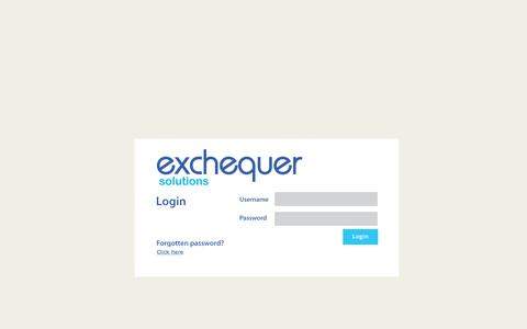 Screenshot of Login Page exchequersolutions.co.uk - Login - captured July 17, 2016