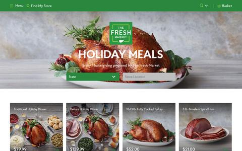 Thanksgiving Online Ordering - The Fresh Market