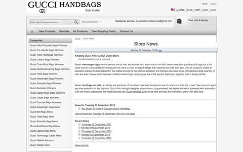 Screenshot of Press Page vernastarlingphotography.com - Store News : Gucci Messenger Bag - captured Oct. 29, 2014