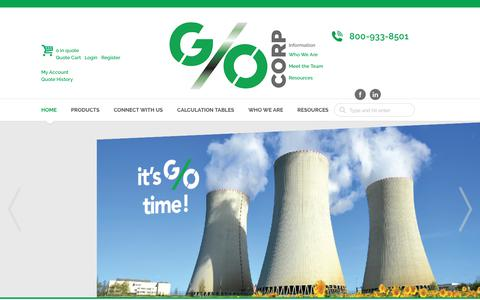 Screenshot of Home Page gocorp.com - Serving the Nuclear Industry |   Home | Go Corp - captured Sept. 25, 2018