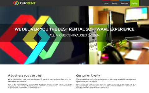 Screenshot of About Page current-rms.com - About Us | Current RMS - captured Oct. 28, 2014