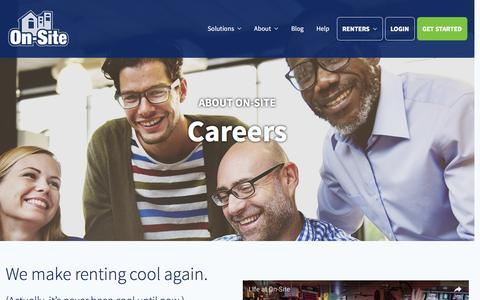 Screenshot of Jobs Page on-site.com - Careers | On-Site - captured Feb. 2, 2017