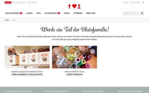 Screenshot of Jobs Page blutsgeschwister.de - Jobs - Blutsgeschwister Fashion Online Shop - captured Nov. 19, 2017