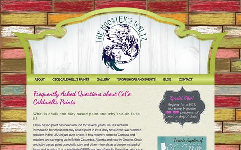 Screenshot of FAQ Page theroosterswaltz.com - Frequently Asked Questions about CeCe Caldwell's Paintstheroosterswaltz.com - captured March 17, 2016