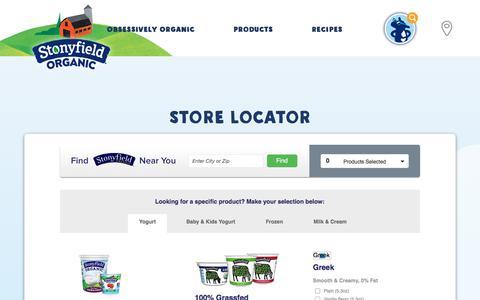 Product & Store Locator | Stonyfield Organic