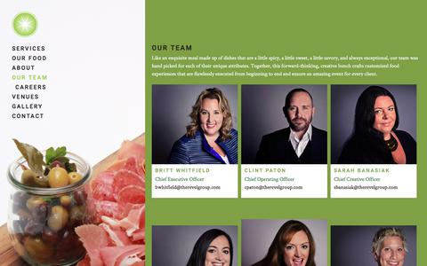 Screenshot of Team Page limelightcatering.com - Our Team - Limelight Catering - captured Aug. 22, 2018