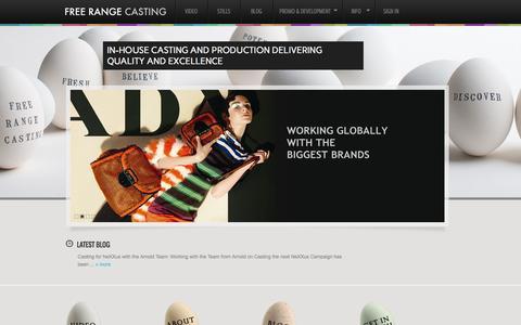Screenshot of Home Page freerangecasting.com - Free Range Casting | Quality Casting and Production - captured Sept. 30, 2014