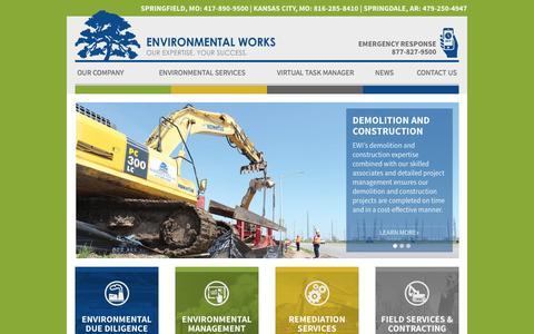 Screenshot of Home Page environmentalworks.com - Environmental Consulting | Environmental Works - captured Sept. 18, 2015