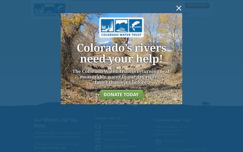 Screenshot of Login Page coloradowatertrust.org captured May 19, 2017