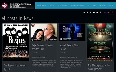 Screenshot of Press Page osb.org.ro - News | Bucharest Symphony Orchestra - captured Oct. 23, 2014