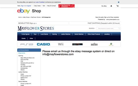 Screenshot of Contact Page ebay.co.uk - Items in Mayflower Stores store on eBay ! - captured Oct. 17, 2017