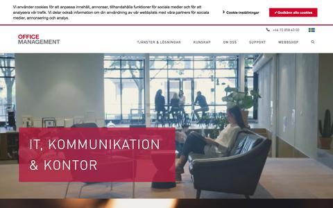 Screenshot of Home Page officemanagement.se - IT, kommunikation & kontor | Office Management - captured Sept. 21, 2018