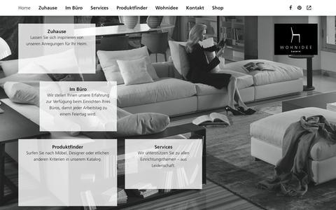 Screenshot of Home Page wohnidee.ch - Home - Wohnidee - captured Oct. 7, 2014