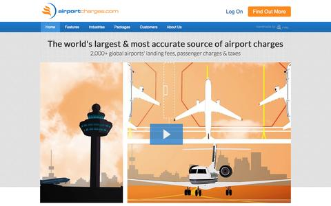 Screenshot of Home Page airportcharges.com - Global Airport Charges, Landing Fees & Taxes from airportcharges.com | Home - captured Oct. 4, 2014