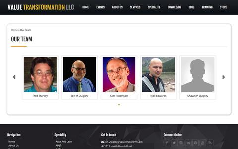 Screenshot of Team Page valuetransform.com - Our Team | Value Transformation - captured Nov. 28, 2016