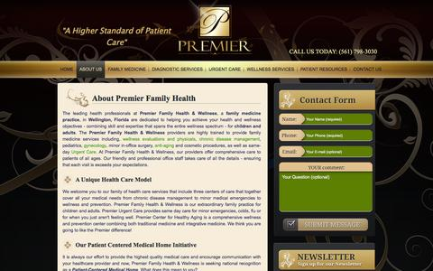 Screenshot of About Page premierfamilyhealth.com - Premier Family Health - Premier Family Health - Wellington, FL - captured April 20, 2016