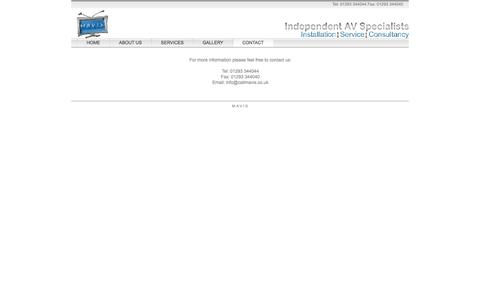 Screenshot of Contact Page callmavis.co.uk - CONTACT - MAVIS Independant AV Specialists - captured Oct. 3, 2014