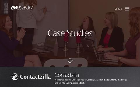 Screenshot of Case Studies Page onboardly.com - Case Studies - Onboardly - captured Oct. 29, 2014