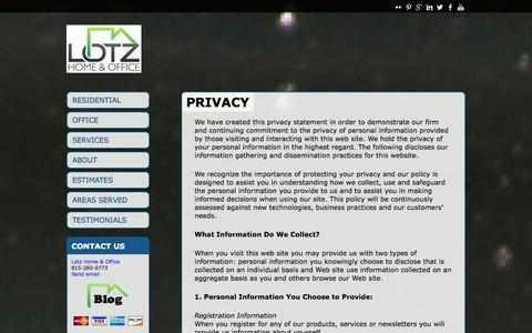 Screenshot of Privacy Page lotzremodeling.com - Privacy | Lotz Home and Office - captured Oct. 3, 2014